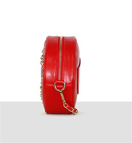Mujer Blanco Rojo Medium Para Jund Cruzados Bolso qC1ZxwRFtH