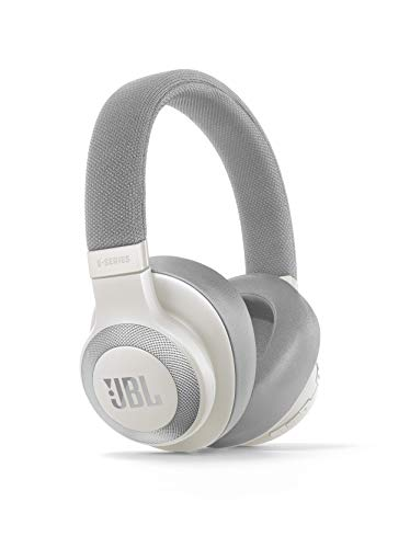 JBL E65BTNC by Harman Wireless Over-Ear Active Noise Cancelling Headphones (White) 2021 August JBL signature sound and active noise cancelling For any queries feel free to reach out our customer care at: 18001020525 Comfort-fi t and stylish fabric headband