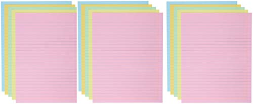 School Smart Ruled Exhibit Paper, 8-1/2 x 11 Inches, Assorted Colors, (3 X Pack of 500) by School Smart (Image #2)