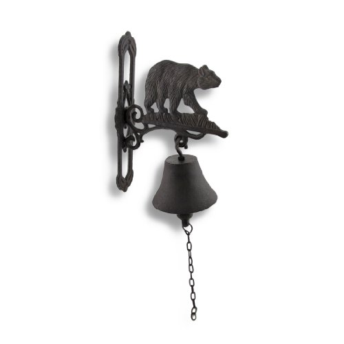 Wall Mounted Cast Iron Bear Bell with Rust Patina by Things2Die4