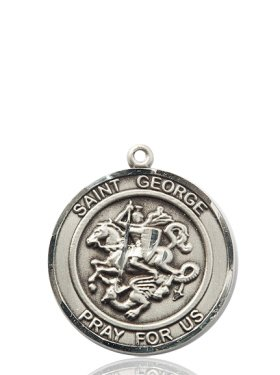 Amazon sterling silver st george pendant jewelry sterling silver st george pendant aloadofball Image collections