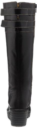 Fly London Yush 2P500336-1 - Botas fashion de cuero para mujer Negro (Black Rug)