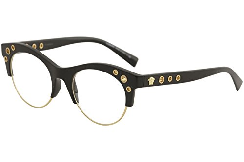 Versace VE3232 Eyeglass Frames GB1-52 - 52mm Lens Diameter Black - Lenses Versace