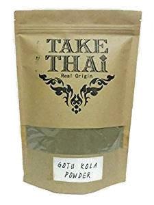 Gotu Kola Herb Powder (Take Thai Real Origin : Gotu kola Powder, Gotu kola tea ,Caffeine Free Tea100% Pure(Centella asiatica) 50 grams)