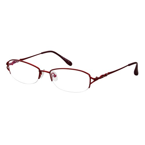 EyeBuyExpress Shield Burgundy Reading Glasses Magnification Strength - Eye Shield Metal