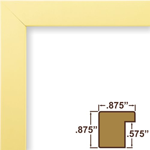 Pastel Finish (Craig Frames 140644 8.5 by 11-Inch Picture Frame, Solid Wood, Smooth Finish, .875-Inch Wide, Light Pastel Yellow)