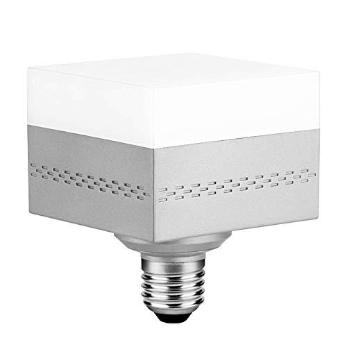 - 40W Square LED Garage Light Bulb,LED Ceiling Lighting Fixture lamp 4000LM, 6500K LED Bulbs with E26/E27 Medium Base for Attic,Basement, Home, Factory,Mine,Road