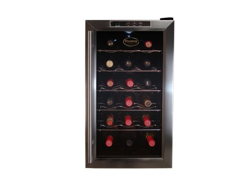 Vinotemp VT-18TEDS Thermo-Electric Digital 18-Bottle Wine Chiller, Black and Stainless ()