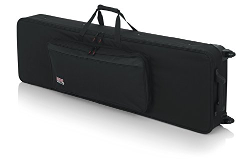 Gator Cases Lightweight Keyboard Case with Pull Handle and Wheels; Fits Slim 88-Note Keyboards (GK-88SLIM) ()