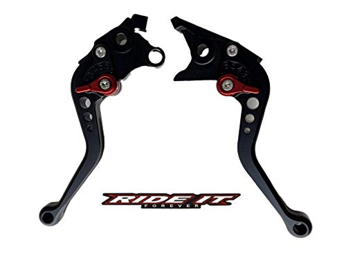 Short Brake and Clutch Levers for SUZUKI HAYABUSA/GSXR1300 99-07,DL1000 Vstrom 02-17,GSX650F 08-15,TL1000R 98-03,SV1000/S 03-07,GSX1400 01-07,GSX1250F 10-16,GSF1250 07-15,GSF1200 01-06