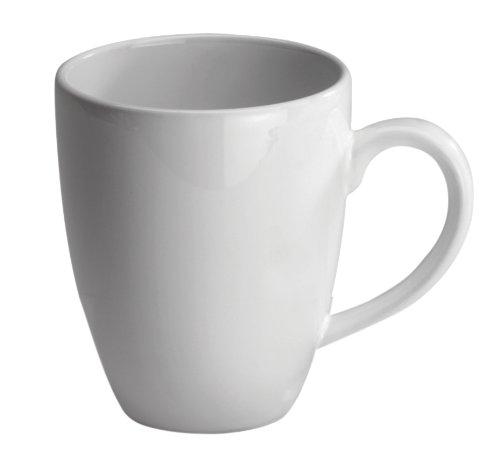 Jumbo White Ceramic Mug (Waechtersbach Fun Factory II White Jumbo Cafelatte Mugs, Set of 4)