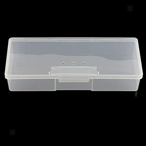 MOPOLIS Plastic Box Transparent Container Storage Blank Component Screw Jewelry Case (Size - 19.5x7.8x4cm) (Nested Aluminum Wire)