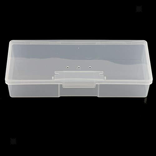 MOPOLIS Plastic Box Transparent Container Storage Blank Component Screw Jewelry Case (Size - 19.5x7.8x4cm)