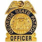 Police Hat Pin (Metal Lapel Pin - US 50 State Police Badge Pin Collection - Georgia State)