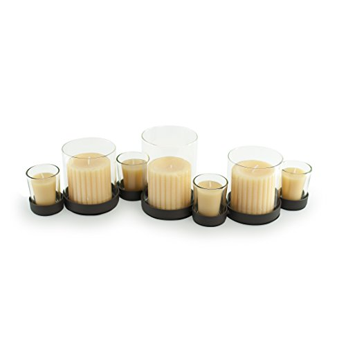 (Danya B. Bubbles Multiple Candle Holder for Pillar and Votive Candles- Black)