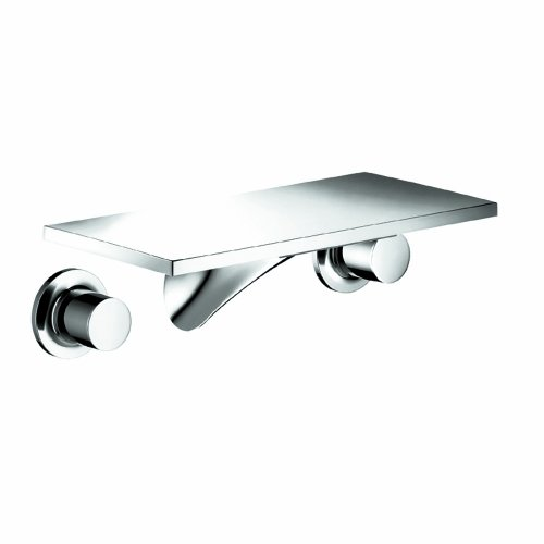 Axor 18112001 Massaud Wall-Mounted Widespread Short Faucet, Chrome - Axor Massaud Wall