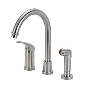 Glacier Bay Builders Single Handle Hi-Arc Kitchen Faucet