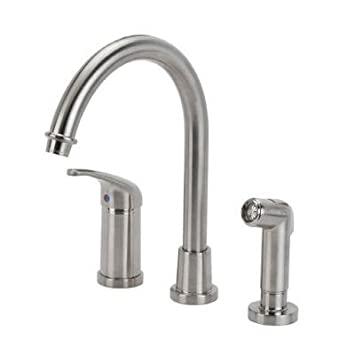 Glacier Bay Builders Single Handle Hi-Arc Kitchen Faucet in ...