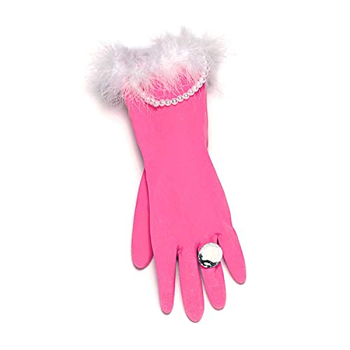 Glamorous Pink and Pearly Washing-up Gloves secret santa gift by Diabolical Gift People