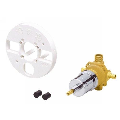 Danze D115010BT Single Control Pressure Balance Mixing Valve Less Screwdriver Stops for Pex Inlet (Pressure Control Balance Shower)
