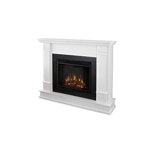 Real Flame G8600E-W Silverton Electric Fireplace, Medium, White (Electric Fireplaces White)