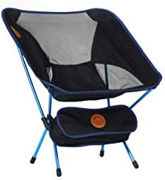Outdoor Enthusiasts Compact Travel Chair Light Weight 2 lbs , Folded up 13 1 2 in Comfortable Recline Body Position Designed for All Travel, Camping, Hiking, Backpacking, Beach, Outdoors