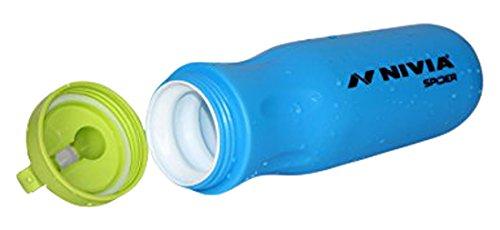 Nivia Spider Plastic Sports Bottle, 600ml (Blue)