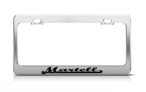 martell-last-name-ancestry-metal-chrome-tag-holder-license-plate-cover-frame