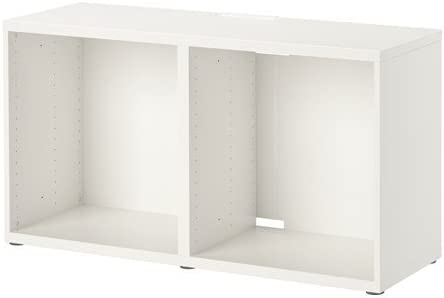 Ikea Besta Meuble Tv Blanc 120 X 40 X 64 Cm Amazon Fr