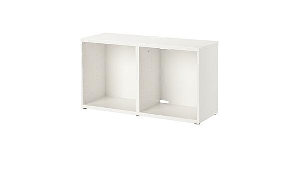 Ikea BESTA - Mueble para TV (120 x 40 x 64 cm), color blanco ...