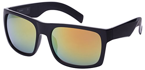 Edge I-Wear Men's Big and Tall Square Frame Sunglasses 540987-REV-1 - Black Trend Glasses Big