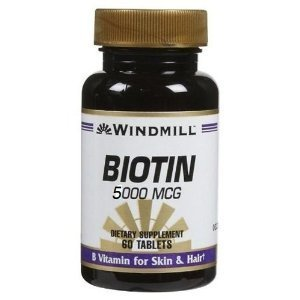 Windmill Biotin 5000 Mcg Tabs 60's Windmill Pack of 6 by Windmill