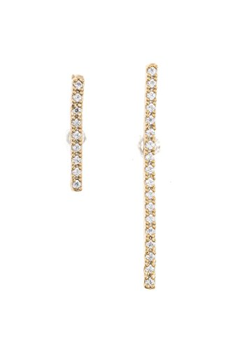 Earring Post Ayala (Trendy Fashion Jewelry CZ Stone Pave Linear Bar Post Earring By Fashion Destination | (Gold))