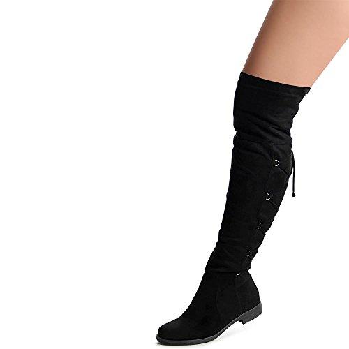 Overknee Bottes Femmes Topschuhe24 Femmes Overknee Noir Bottes Noir Bottes Noir Overknee Femmes Topschuhe24 Topschuhe24 S461qC