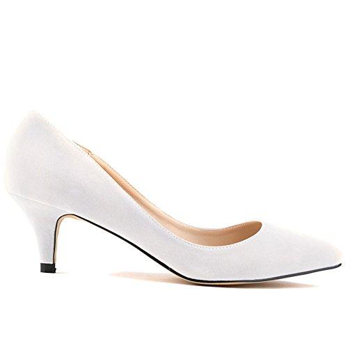Pump tacco Kunsto col bianco donna Scarpe Bianco pSHFq