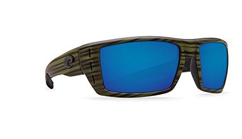 Costa Del Mar Rafael Sunglasses, Olive Teak, Blue Mirror 580 Plastic - Rafael Costa
