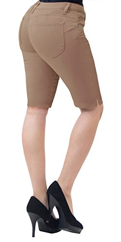 Super Comfy Stretch Bermuda Shorts B43308 TAN (Super Stretch Short)