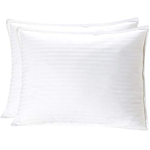 - Mellanni Plush Gel-Fiber Filled Pillows 100% Cotton Cases, 3D Hollow Siliconized Material Retains Shape for Cooling Comfort, NO Flattening! (2-Pack King Size)