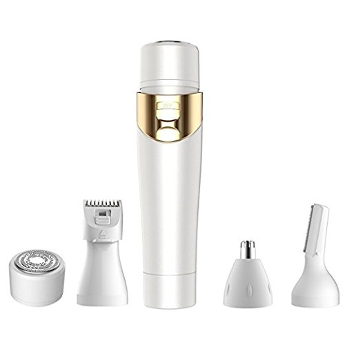 WiCareYo 4 in 1 Women's Electric Shaving Hair Removal Epilators Ladies eyebrow Body Nose Bikini Trimmer Facial shaver Remover Witop