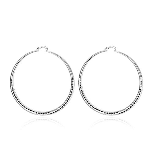 fonk: New Fashion silver-plated earing Prismatic Section hoop Earring silver plated Earrings SMTE290