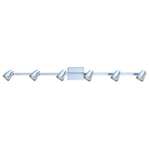 Milli Modern Lighting Diego Chrome Six-Light Track Light