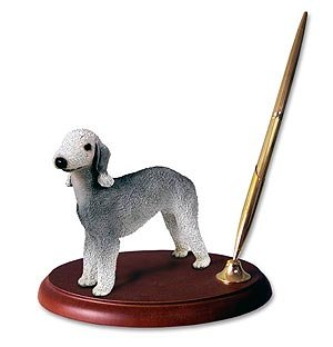 Bedlington Terrier Figurine (Bedlington Terrier Dog Desk Set)