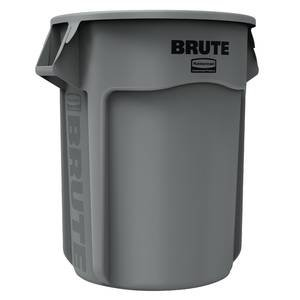 55 Gallon Rubbermaid Brute Round Trash Can, Gray