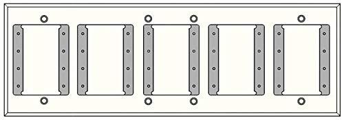 FSR IPS-WP1H-WHT 7 Gang Wall Plate ()