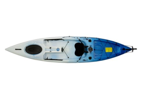 Riot Kayks Escape 12 Sit-On-Top Flatwater Recreational Kayak (White/Blue, 12-Feet)