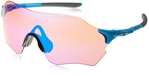 (Oakley Men's Evzero Range Non-Polarized Iridium Rectangular Sunglasses, Matte Sky Blue, 38 mm)