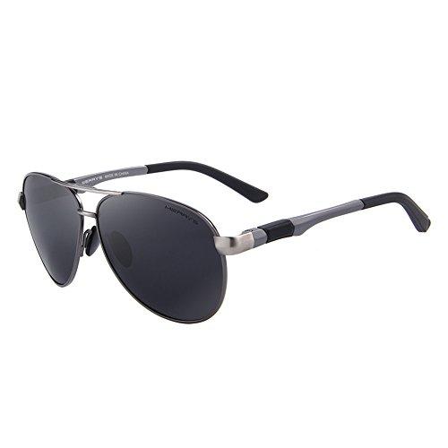 Negro gafas sol C02 original hombres hombres caja con polarizadas qbling de polarizadas gafas de Hd marca Gris gafas calidad alta technolog de marca qAHwI1v