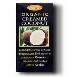 THREE PACKS of Biona Organic Creamed Coconut 200g by Biona (Coconut Organic Creamed)
