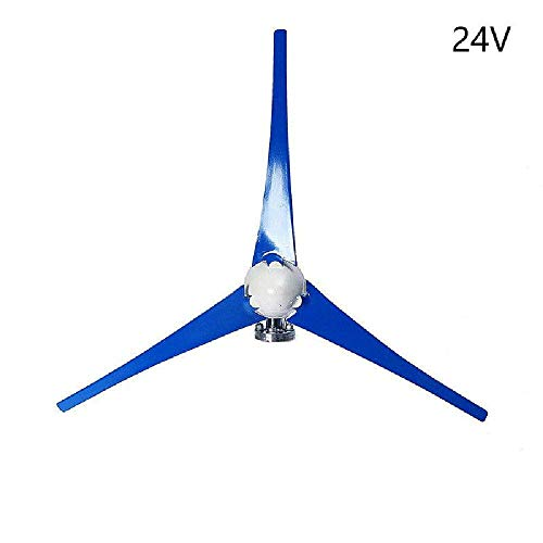 IRONWALLS Wind Turbine Windmill Power Generator Kit 400W DC 24V 3 Blade with Controller Blue for Home Business Industrial Energy