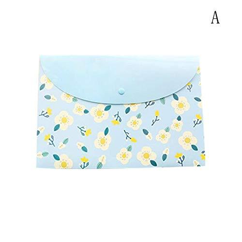 Amazon.com: GOP Store 1pcs A4 Paper Holder Bag for Documents Portafolio School Supplies Floral Folder Bag Korean Stationery Office File Organizer: Kitchen & ...